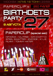 Paperclips Birthdets Party